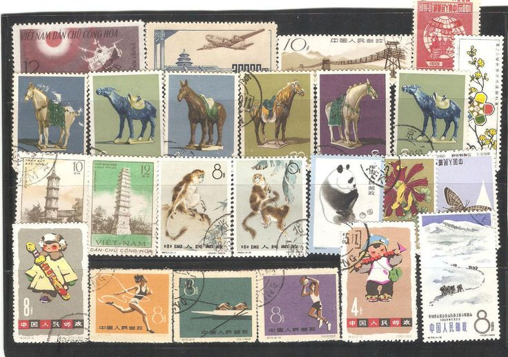 Stamps from Asia 60 pcs High Value