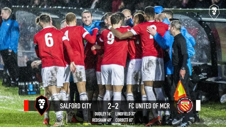 Salford City 2-2 FC United - National League North 01/01
