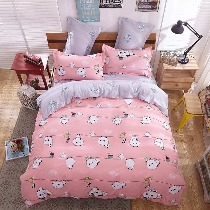 Summer Style Cotton Bedding Sets Super Soft Owl Twin Full Queen King Nordic Style Comforter Duvet Cover Bed Sheet Pillowcase Like and share if you think it`s fantastic! Visit our store