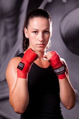 Mandy Bujold - Pan Am Games gold medal holder. Local boxer from Kitchener, ON