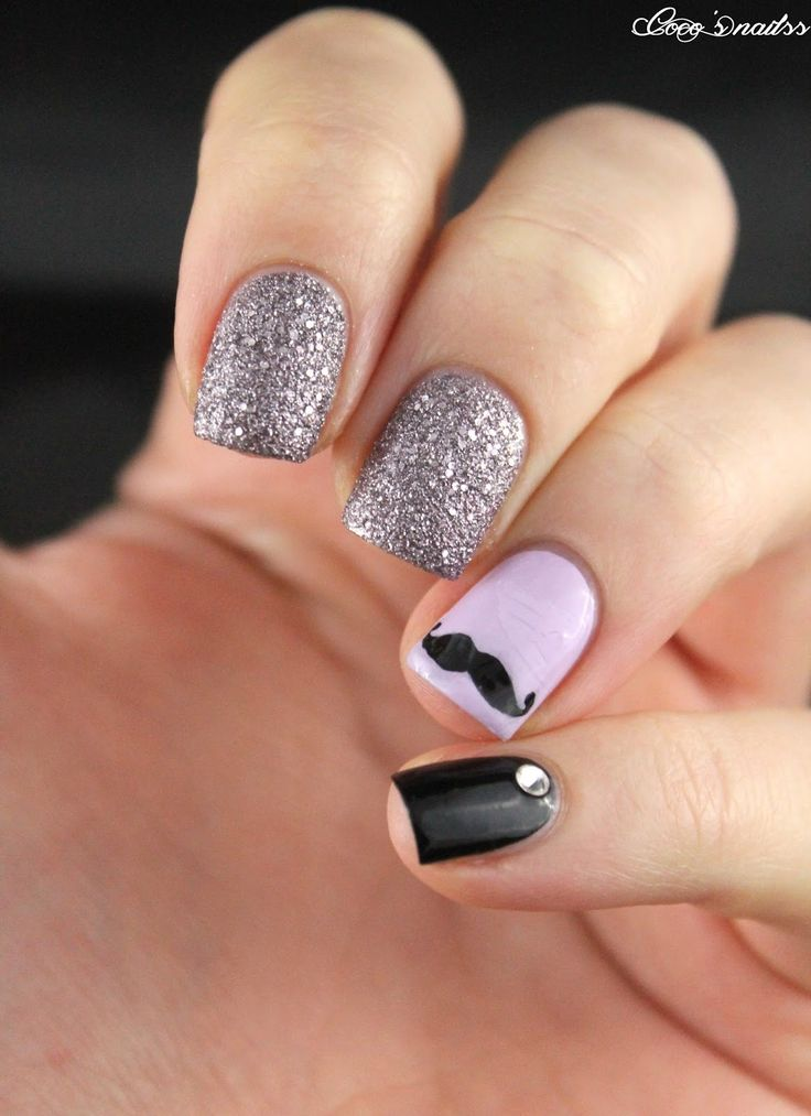 Best 25 mustache nail art ideas on pinterest mustache nails nailstorming movember prinsesfo Choice Image