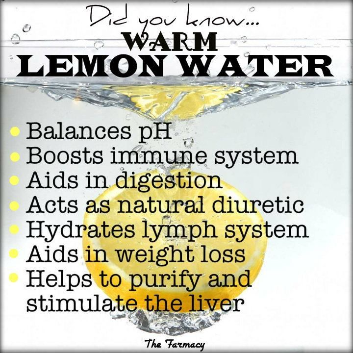 Benefits of Warm Lemon Water via The Farmacy (the recipe is really simple—a cup of warm (not hot) water and the juice from half a lemon.)