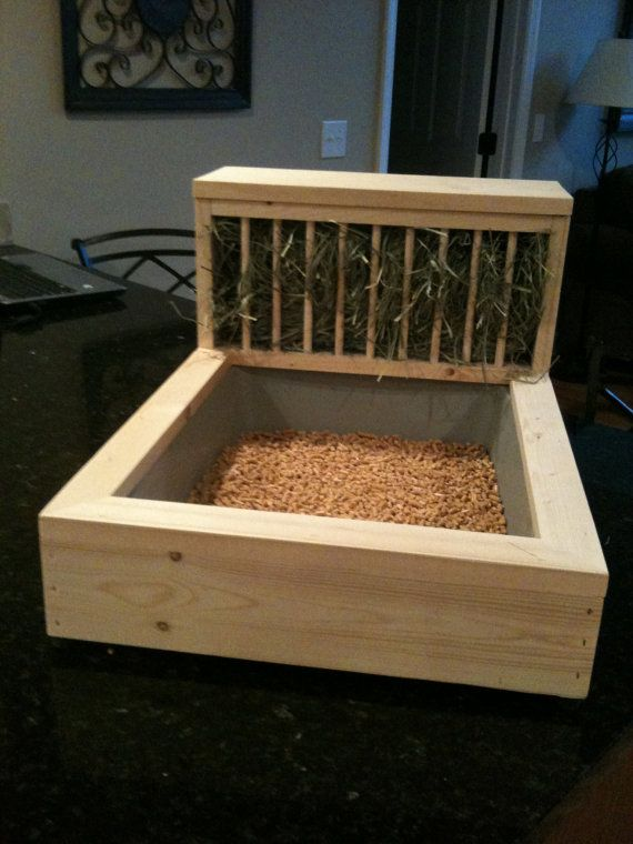 Rabbit Litter Box / Hay Feeder 1 Free by TheBlissfulBunny on Etsy