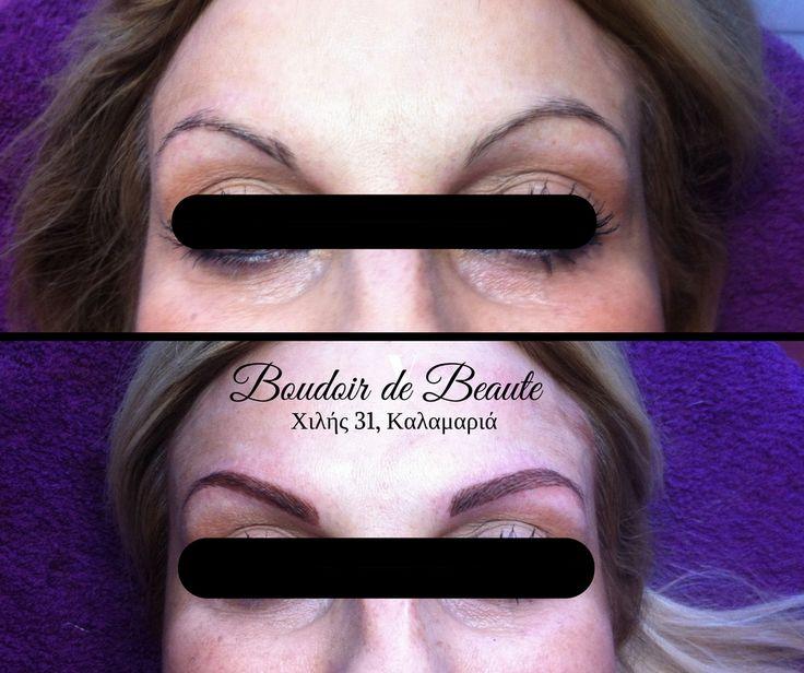 Tattoo με Microblading! #nailsalon #kalamaria #skg #thessaloniki #beautysalon #beauty #boudoirdebeaute #boudoir_de_beaute #manicure #nails_greece #face #makeup #permant_makeup #eyebrows #microblading