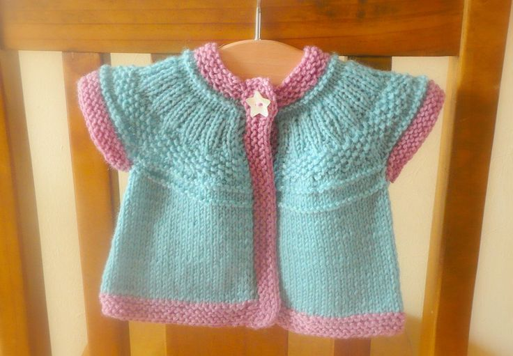 Knitting Pattern For Seamless Sweater : Knitting Pattern Cardigan - Seamless Top Down Baby Girl ...