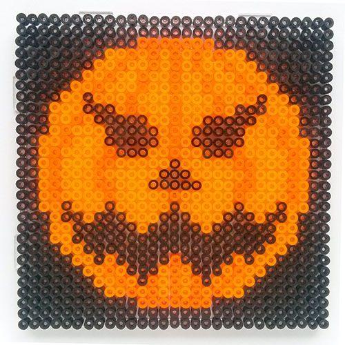 Halloween pumpkin hama perler beads