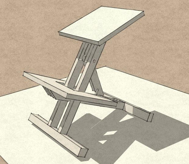 Wooden kneeling chair chairs kneeling chair and 3d for Chair kneeling