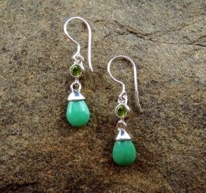 Chrysoprase Earrings $80