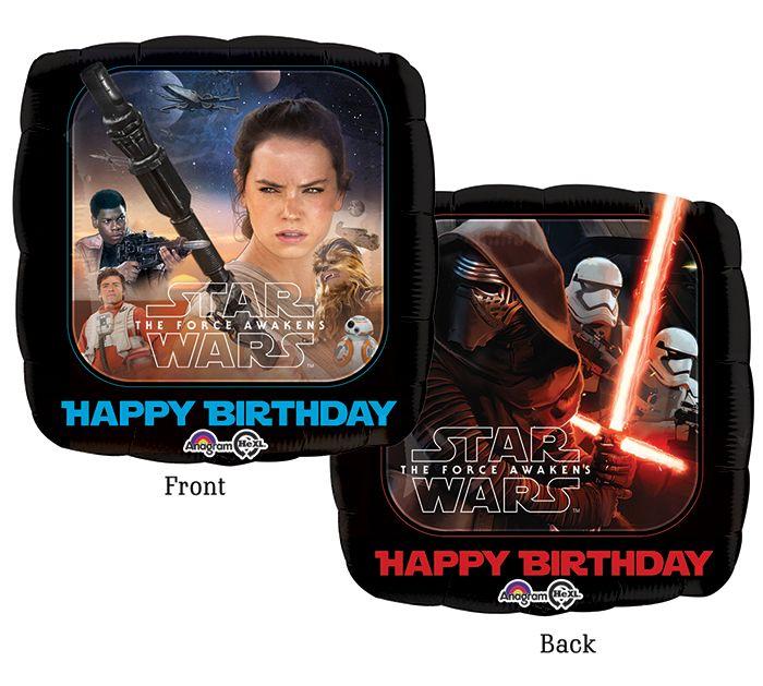 Star Wars Happy Birthday Balloons! #burtonandburton