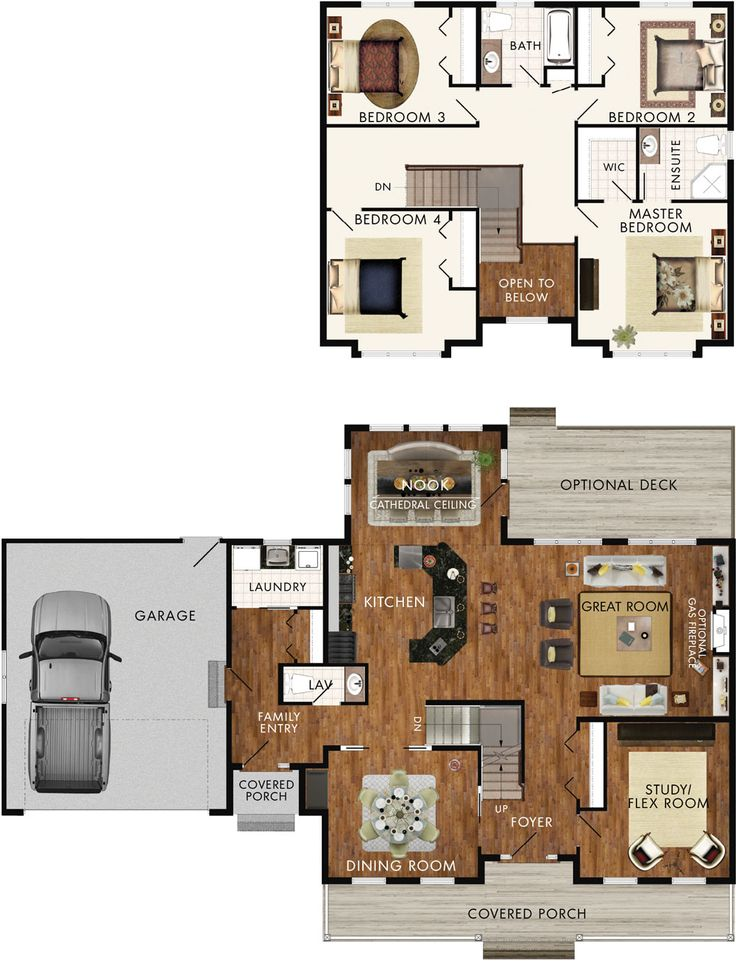 Delacombe Floor Plan - add another garage stall and adjust the lavatory/laundry area to accommodate a full bath