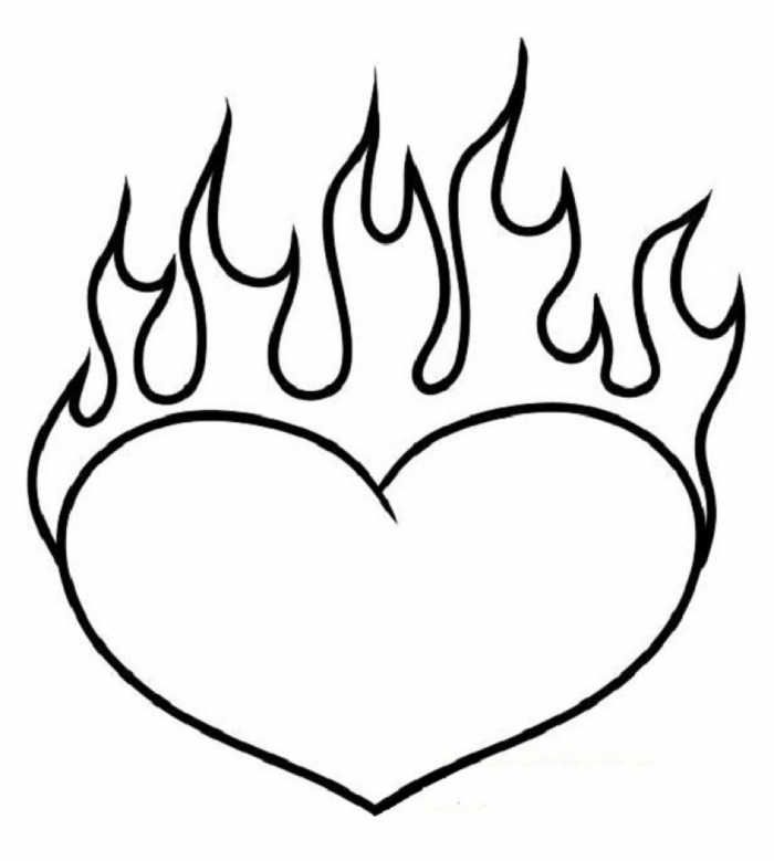 Heart Coloring Pages Printable Free Coloring Sheets Heart Coloring Pages Love Coloring Pages Fire Heart