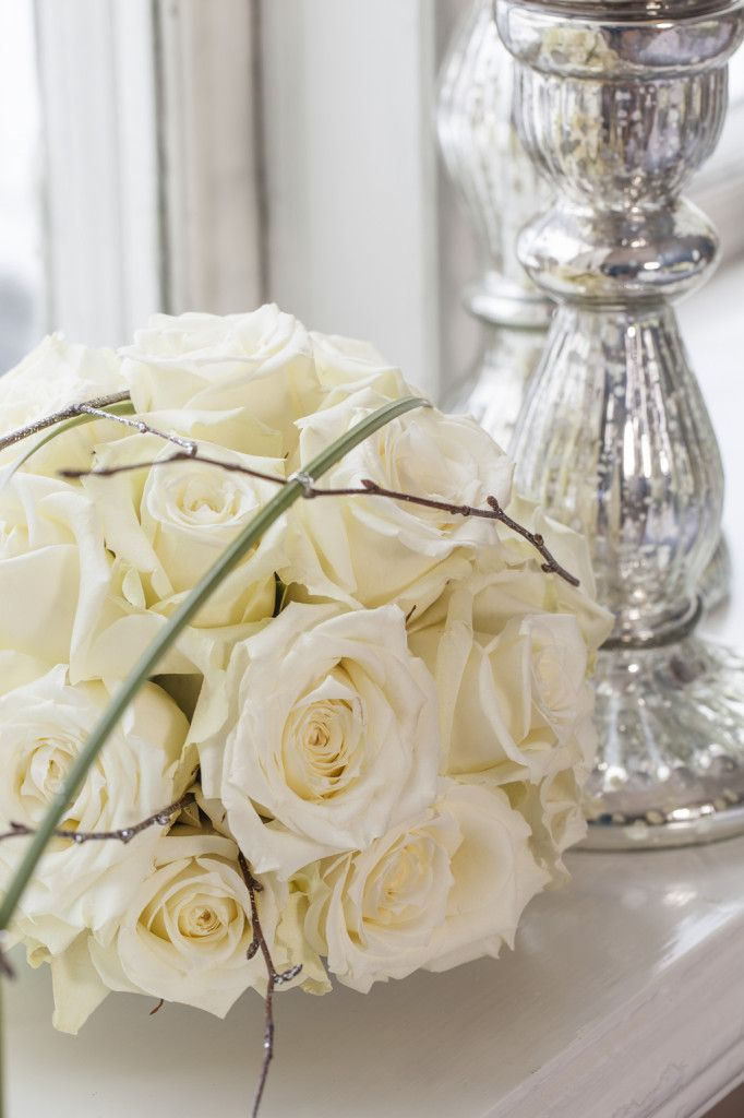 White roses for new years eve