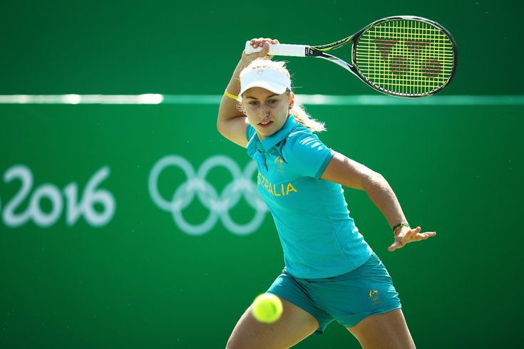 Daria Gavrilova Photos - Daria Gavrilova of Australia practices at the Olympic Tennis Centre prior to the Rio 2016 Olympic Games on August 5, 2016 in Rio de Janeiro, Brazil. - Olympics - Previews - Day 0