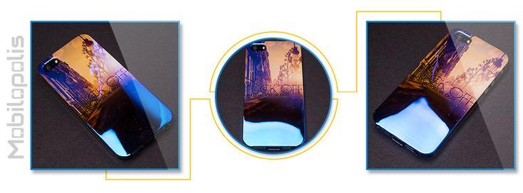 Extra lesklý silikonový kryt na iPhone 5, 5s, SE - iRaptor Series Blue Chrome SBC20100