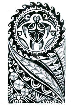 Polynesian half sleeve tattoo design by thehoundofulster on DeviantArt