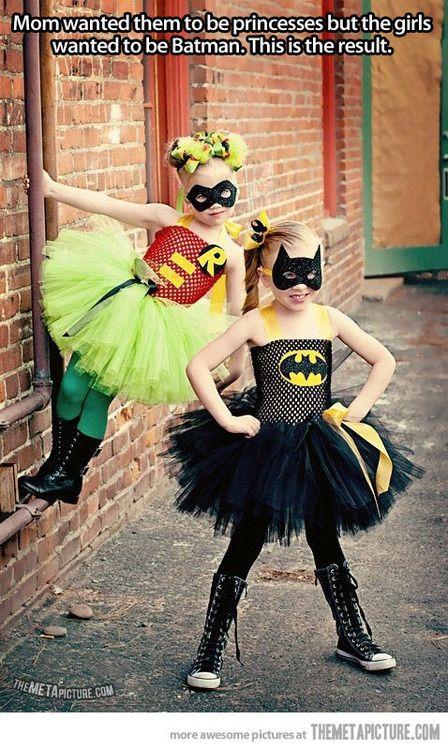 Batman princesses... I LOVE this idea!!