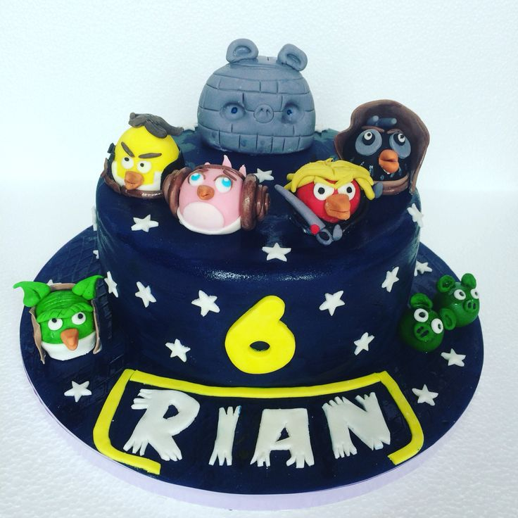 Star Wars and Angry Birds Cake