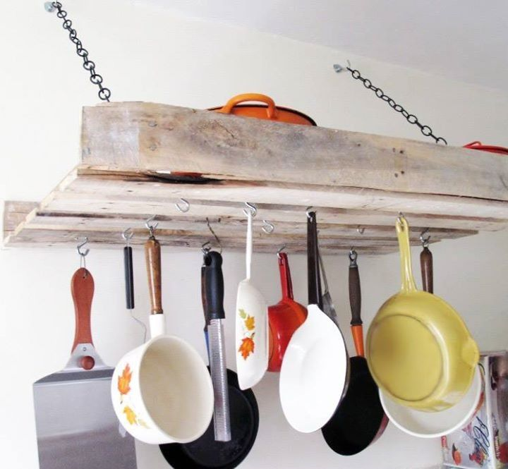 1000 ideas sobre ollas para colgar en pinterest macetas for Colgar utensilios de cocina