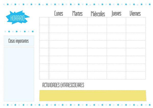 Plantilla horario escolar para imprimir hay m s en http for Plantillas mr wonderful