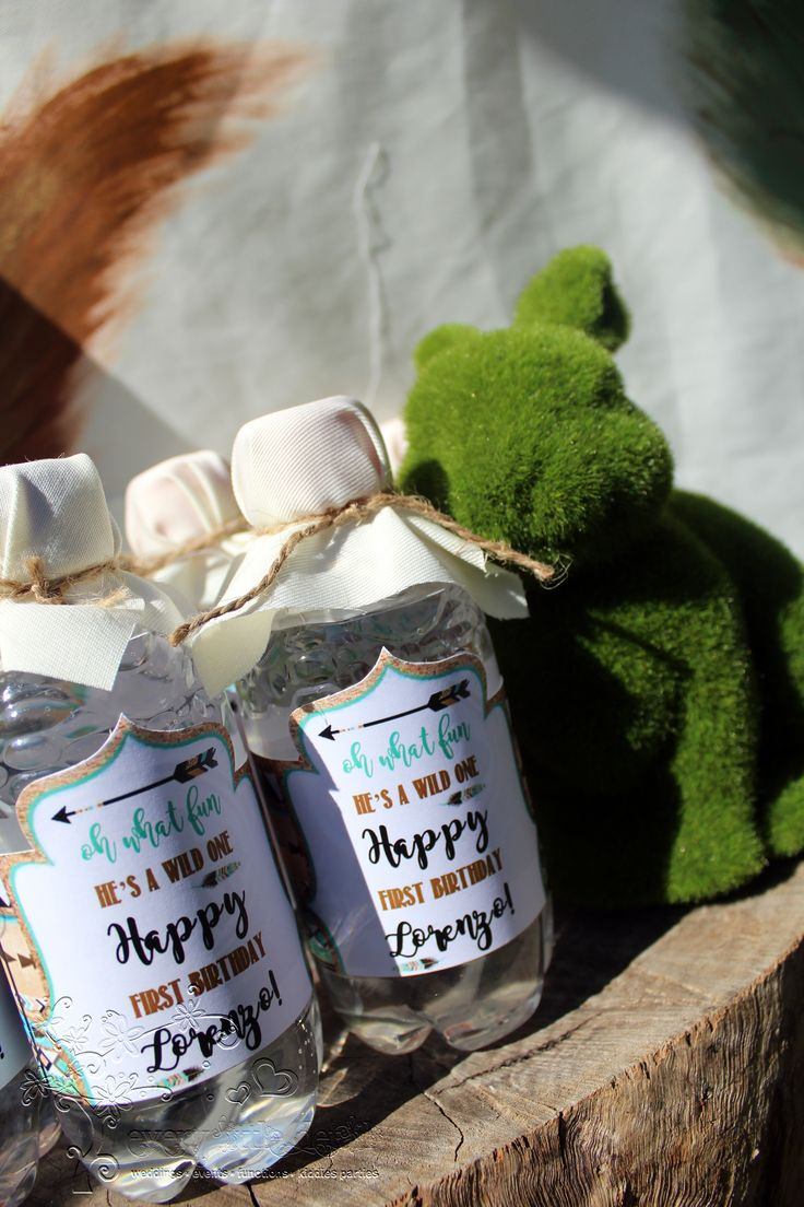 Water bottles with personalised labels #WildOne