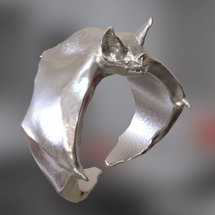 Bat ring, Yegor Smirnov on ArtStation at https://www.artstation.com/artwork/oQZdk