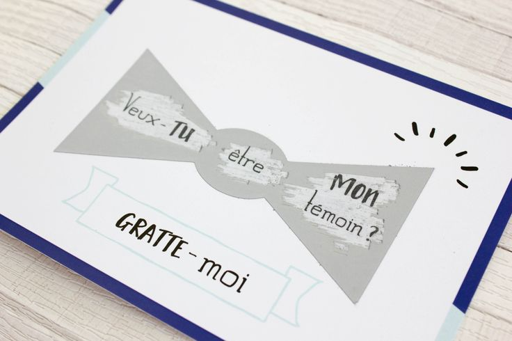 Carte postale à gratter - Demande témoin de mariage homme : Cartes par oricamille