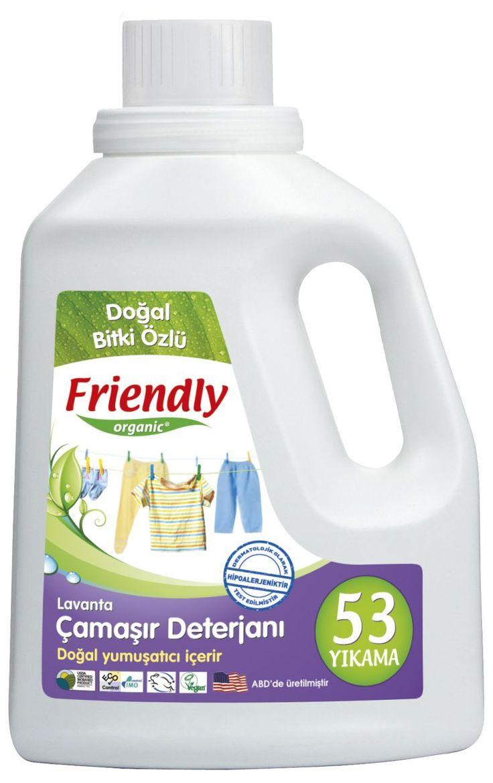 Friendly Organic Hassas Ciltler İçin Çamaşır Deterjanı Lavanta 2 ADET 1.57 Lt.