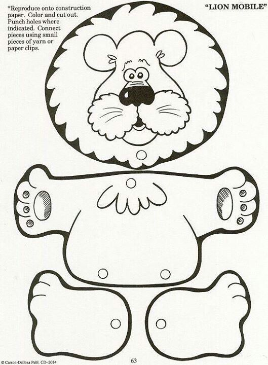 Lion puppet template