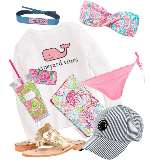 Beach day ft lilly pulitzer, sopro, vineyard vines, and jack rogers