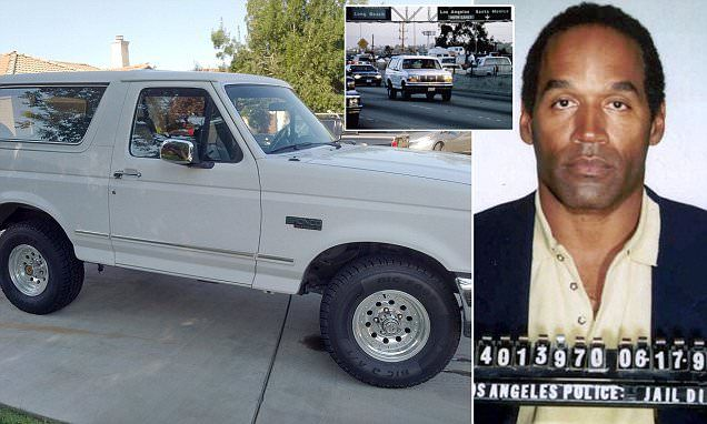 OJ Simpson's white Bronco goes on sale for $700k | Daily Mail Online