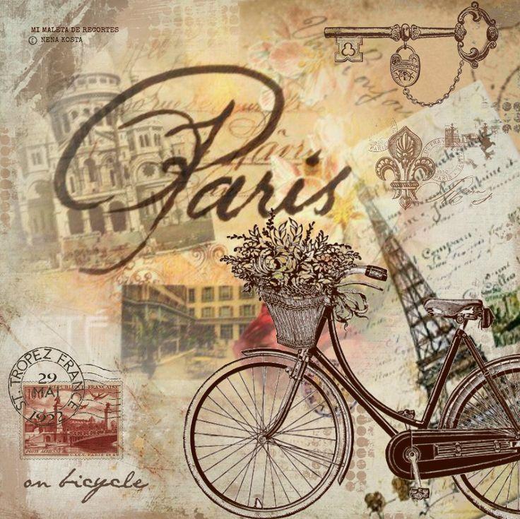 MI MALETA DE RECORTES: Láminas con Bicicletas, Flores, y algún Hada soñadora