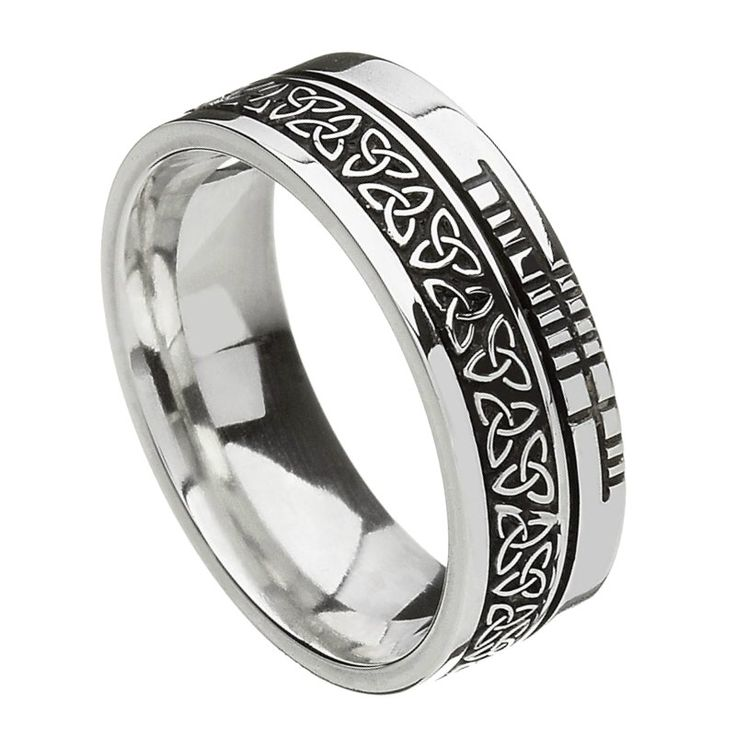 Comfort Fit Trinity Faith Silver Band - Rings from Ireland