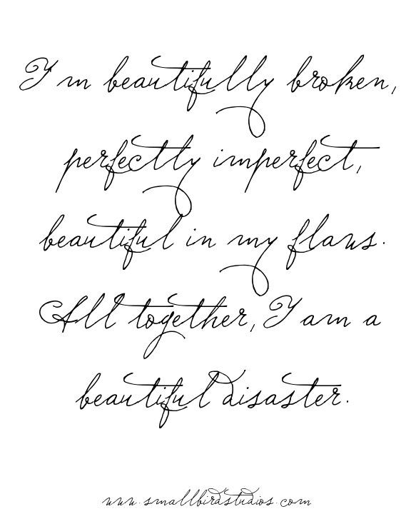 Monday Mantra // I am a beautiful disaster - FREE Printable