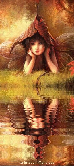 Fairy Friends 30 - The shy one - Animated Fantasy Art - The Fairy Realm - Fairies