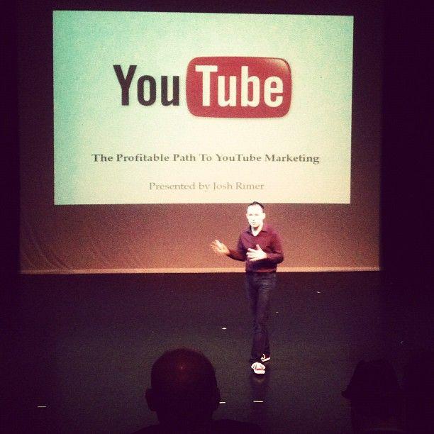 """My talk today at the """"Social Media Money"""" seminar.    (Taken by Owen Clark)"""