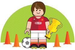 Lego Man Football Soccer Player