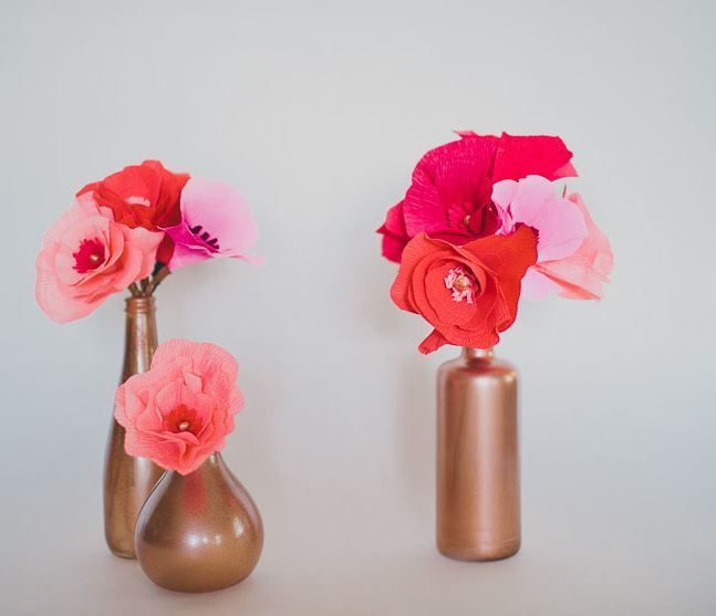 103 best how to make paper flowers paper crafts images on pinterest lovely ombre crepe paper flowers mightylinksfo Gallery