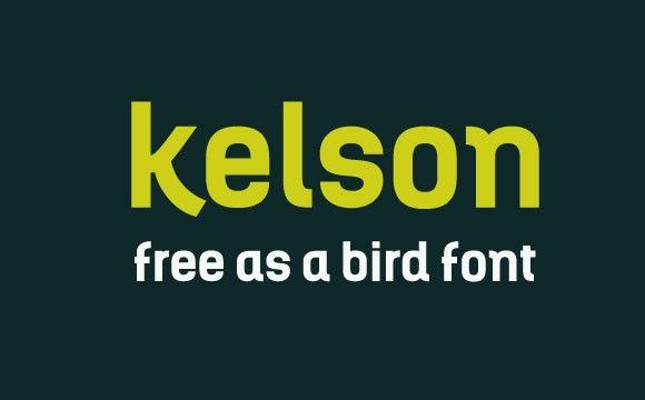 Kelson free webfont & desktop font