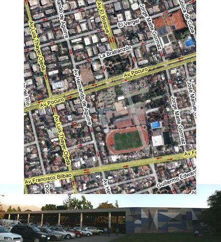 ¿Es la fachada del Colegio San Ignacio El Bosque tan grandiosa para evitar que cruzara Avenida El Bosque?