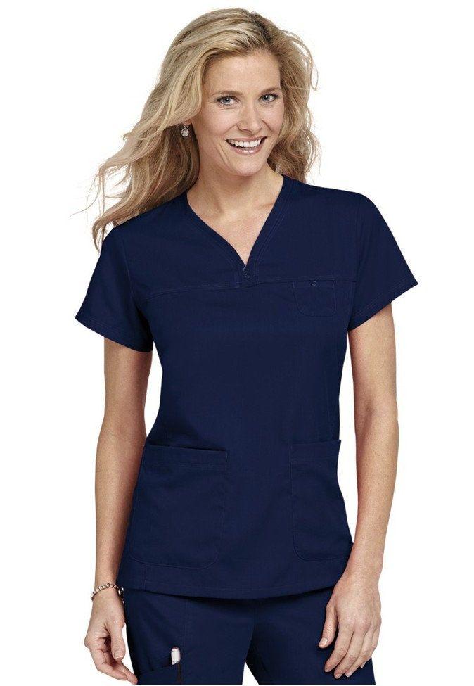 Greys Anatomy Scrub Topsize Small, Indigo  Greys -8836