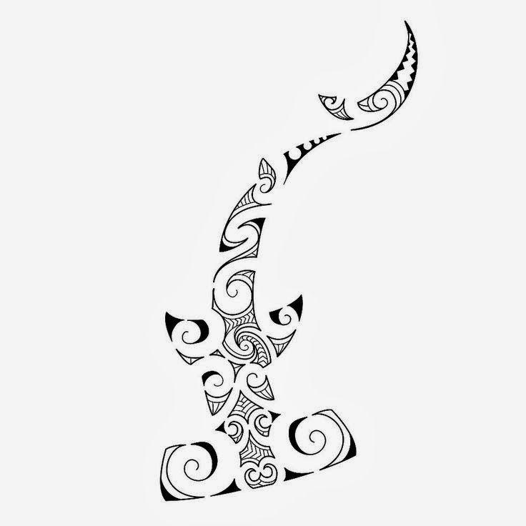 Polynesian Shark Tattoo Designs Maori Shark Tattoo Pattern