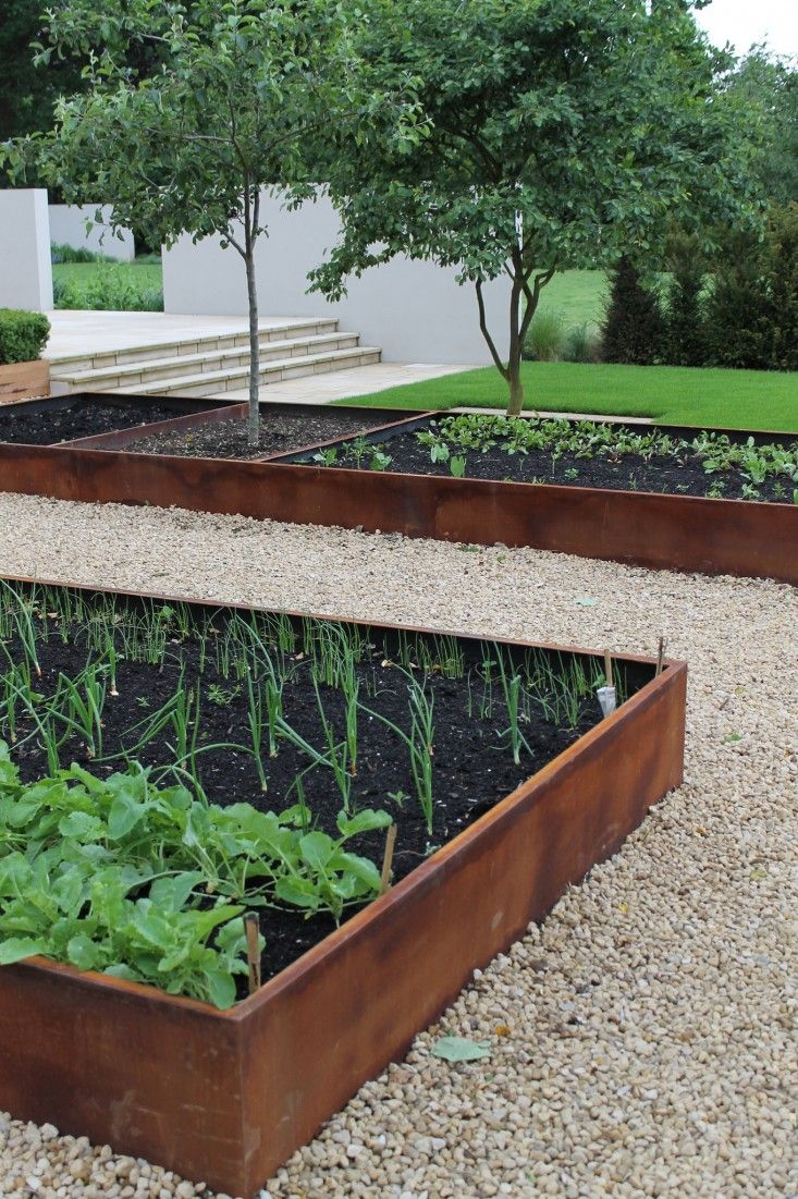 rusted steel garden edging australia - Google Search