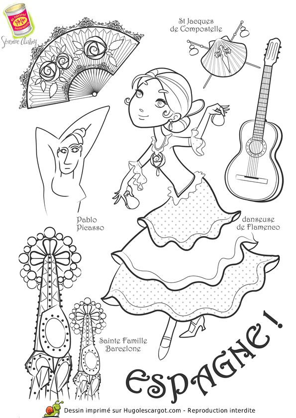 Coloriage / dessin enfant Espagne