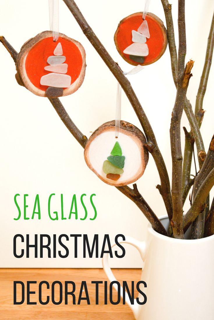 How to make Sea Glass Christmas Decorations - vicky myers creations
