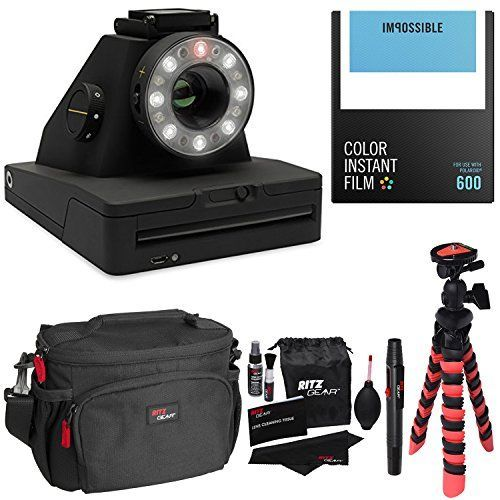 Impossible Project I1 Analog Instant Camera With Impossible PRD4514 Polaroid 600 and Instant Lab Color Film Ritz Gear Deluxe DSLR Camera Bag Flexi Tripod and Cleaning Kit >>> Click image to review more details.