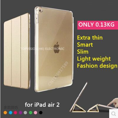 TOP quality flip for apple iPad air 2 leather case smart cover for ipad air 2 case (ipad 6) cover supper slim thin clear-in Covers & Cases from Computer & Office on Aliexpress.com | Alibaba Group