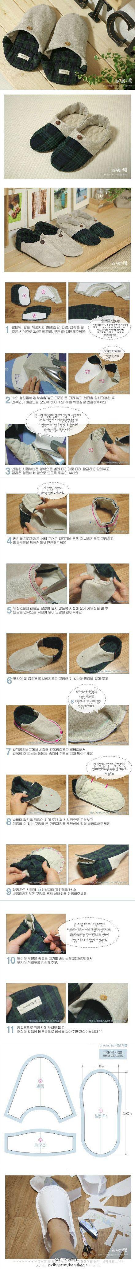 DIY Korean Style Home Shoes