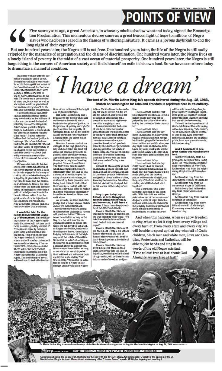 essay speech format martin luther king s have dream and ab