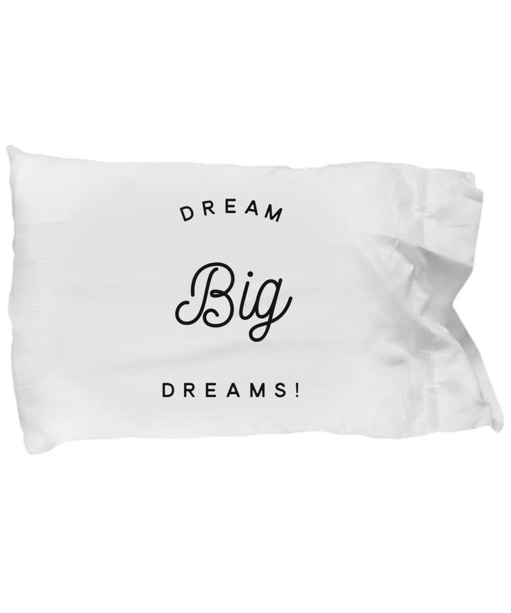 Dream Big Dreams Pillowcase, Inspiring Pillowcases, Dream Big Pillowcase, Pillow case inspirational quote, inspiring quote pillowcase by BearHugBoutique on Etsy