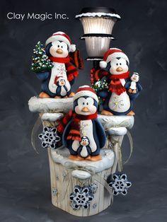 pinguino navideño en porcelanicron - Buscar con Google